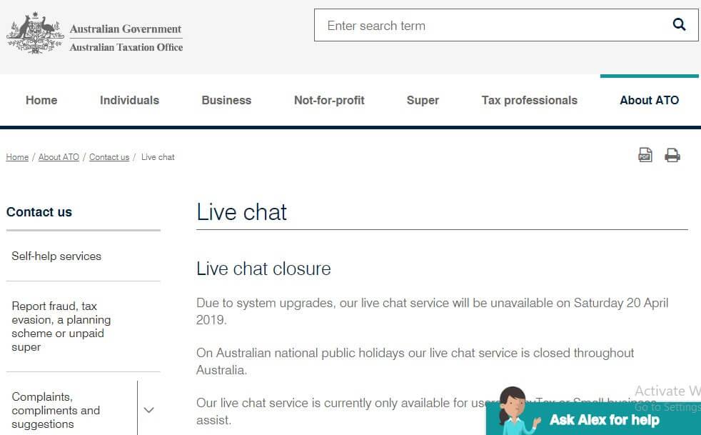 ATO live chat