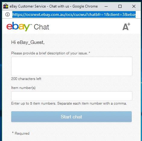 Ebay Live Chat
