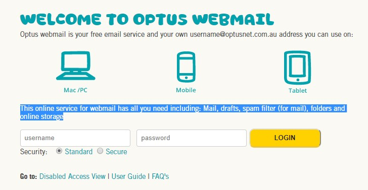 Optus Webmail Support - AU Customer Service