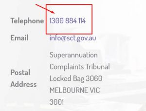 superannuation complaints tribunal phone number