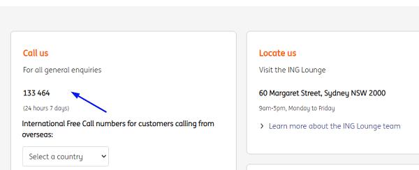 ING Phone Number