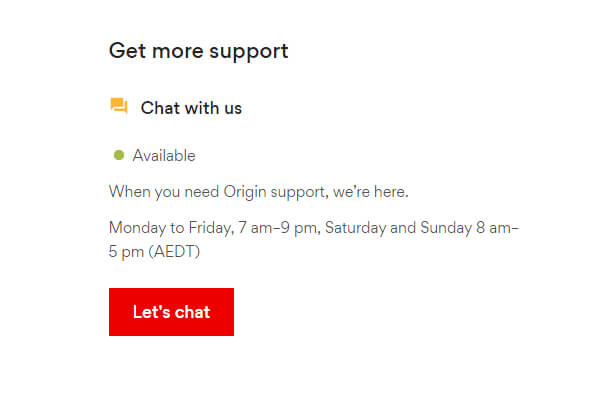 Origin Energy Live Chat